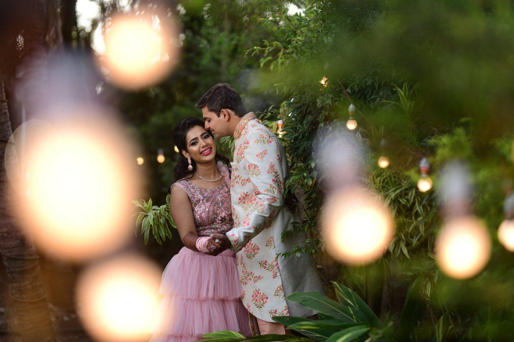 indian, couple, wedding